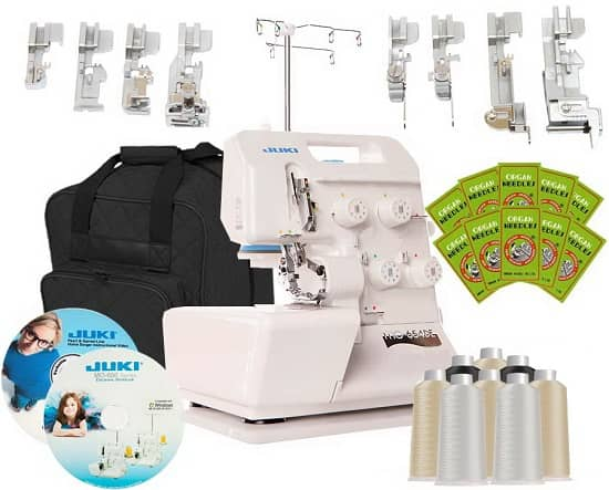 Juki MO-654DE Overlock Serger with FREE Bonus Package
