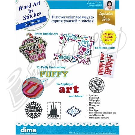 DIME Word Art in Stitches 87